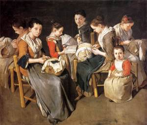 Giacomo_Ceruti_-_Women_Working_on_Pillow_Lace_(The_Sewing_School)_-_WGA4672